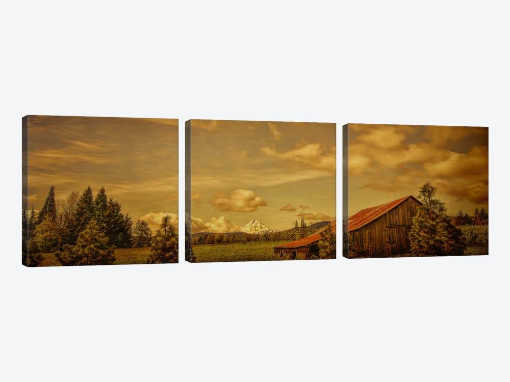 Hood River Barn by Don Schwartz 3-piece Canvas Art