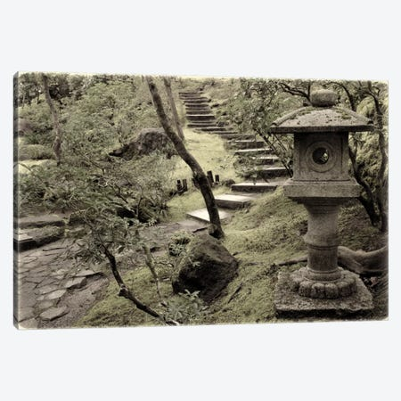 Lantern Along The Path Canvas Print #DSC46} by Don Schwartz Canvas Art
