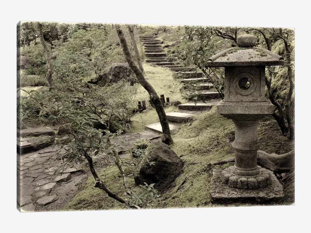 Lantern Along The Path 1-piece Canvas Art Print