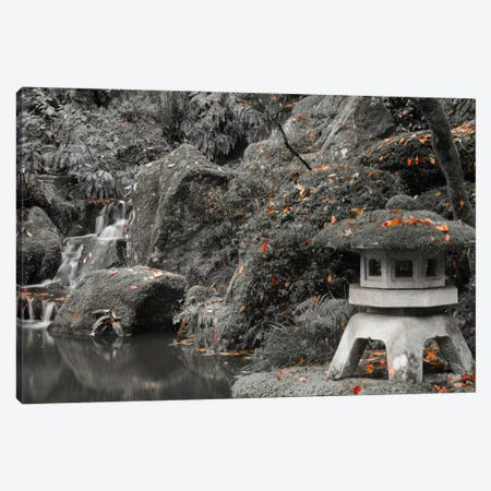 Lantern Along The Pond 3-Piece Canvas #DSC47} by Don Schwartz Canvas Art