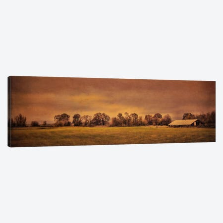 Long Barn At Daybreak Canvas Print #DSC53} by Don Schwartz Canvas Artwork
