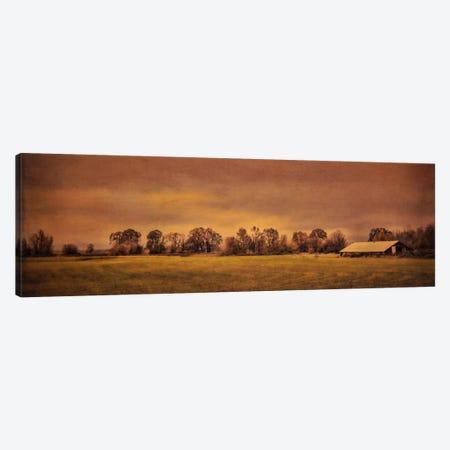 Long Barn At Daybreak Canvas Print #DSC53} by Don Schwartz Canvas Artwork