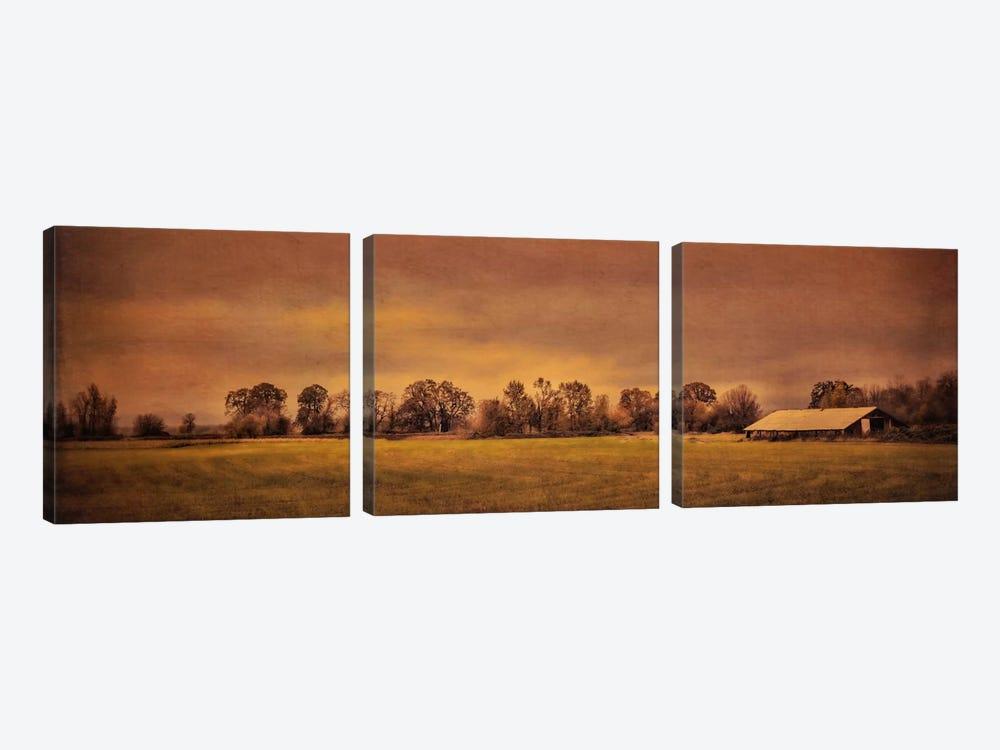 Long Barn At Daybreak by Don Schwartz 3-piece Art Print