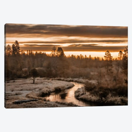 Along The Little Deschutes Canvas Print #DSC5} by Don Schwartz Canvas Print