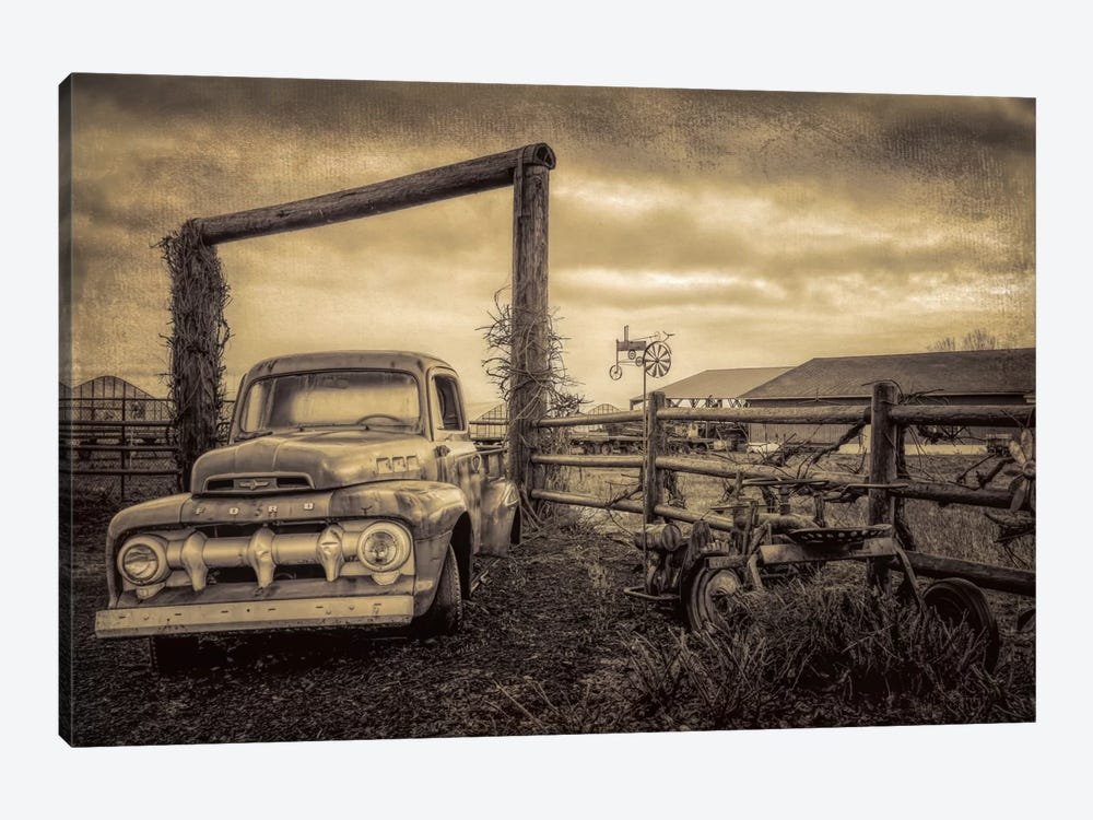 Old Ford At The Farm by Don Schwartz 1-piece Canvas Art