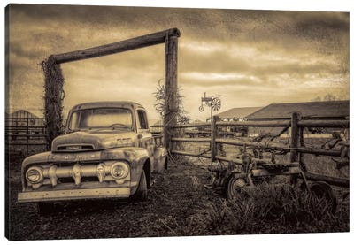 Old Ford At The Farm Canvas Art Print