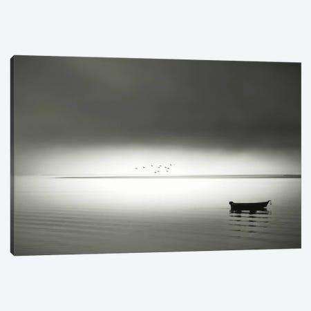 Quiet Morning In The Bay Canvas Print #DSC66} by Don Schwartz Canvas Wall Art