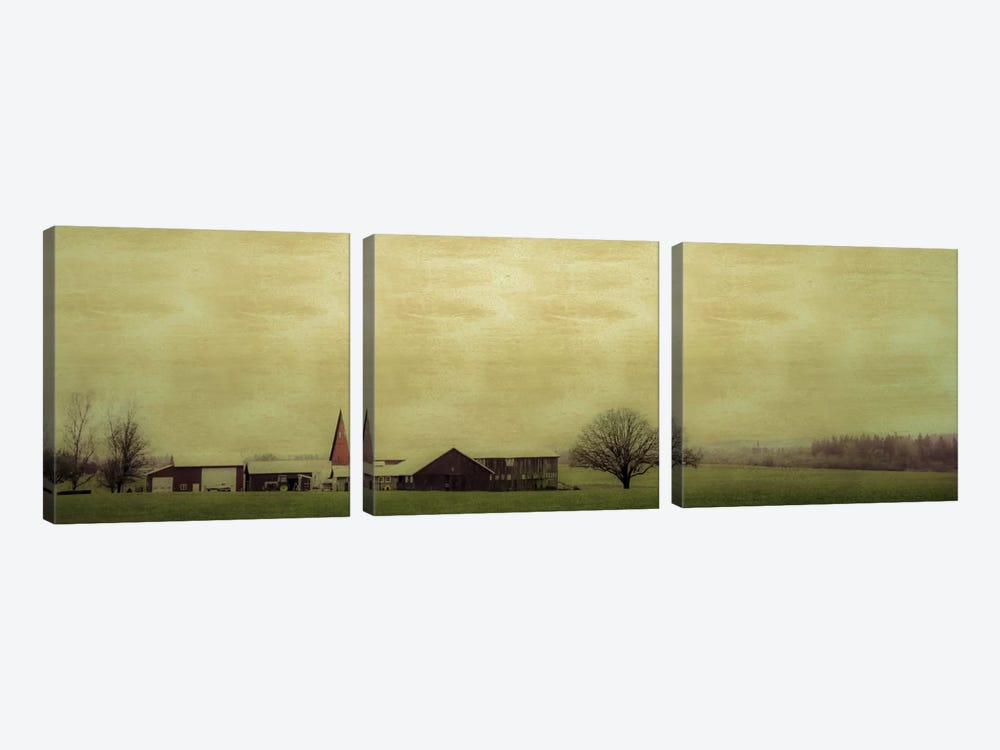 Roadside Barn by Don Schwartz 3-piece Canvas Art Print