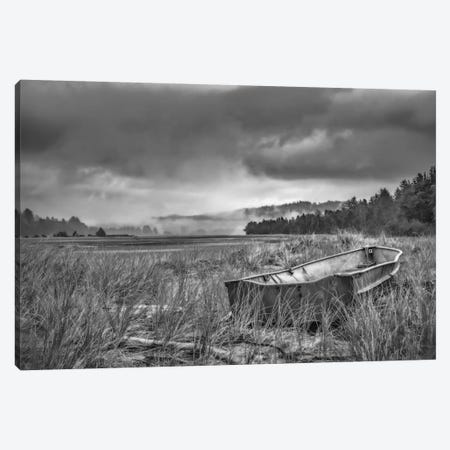 Rowboat In The Dune Grasses Canvas Print #DSC69} by Don Schwartz Canvas Art Print