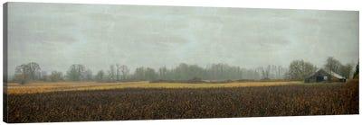 Rustic Barn On A Rainy Day Canvas Art Print