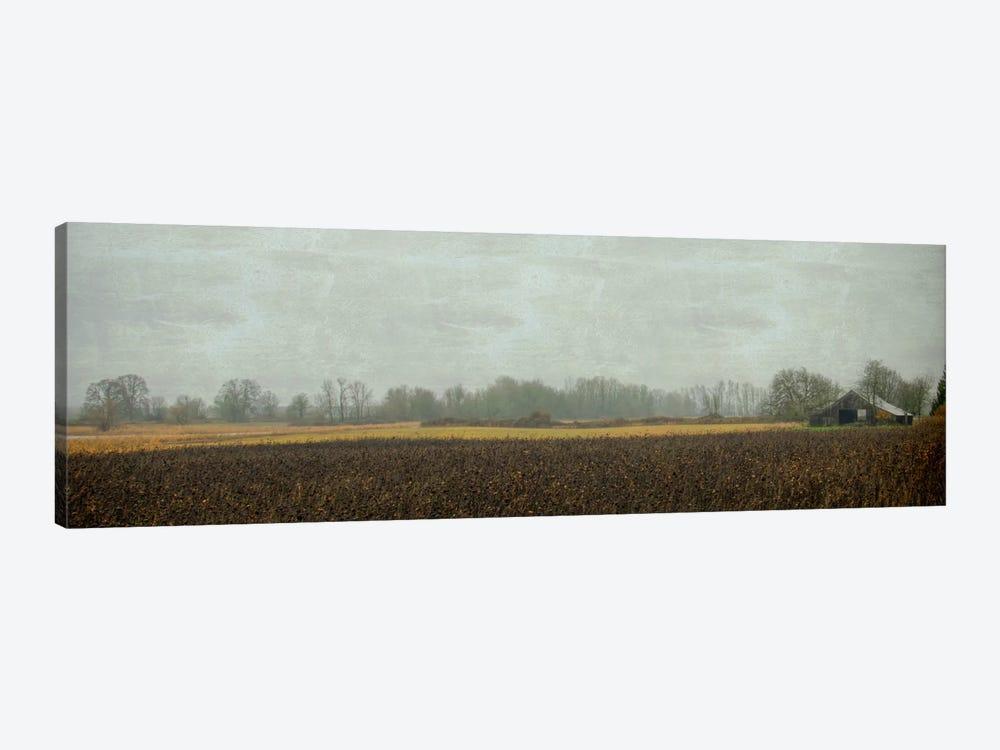 Rustic Barn On A Rainy Day by Don Schwartz 1-piece Canvas Artwork