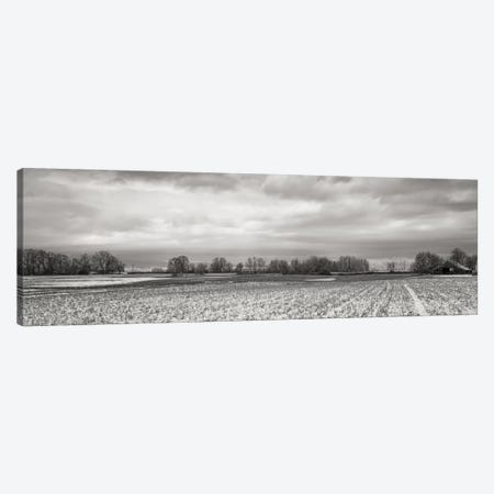 Snow-Dusted Field Canvas Print #DSC77} by Don Schwartz Canvas Art Print
