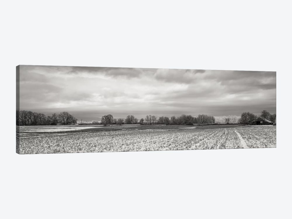 Snow-Dusted Field by Don Schwartz 1-piece Canvas Print