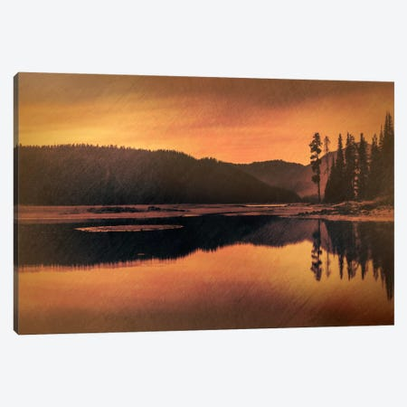 Sparks Lake Serenity Canvas Print #DSC78} by Don Schwartz Canvas Art