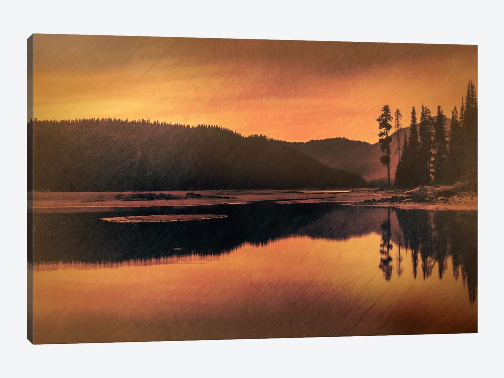 Sparks Lake Serenity by Don Schwartz 1-piece Canvas Wall Art