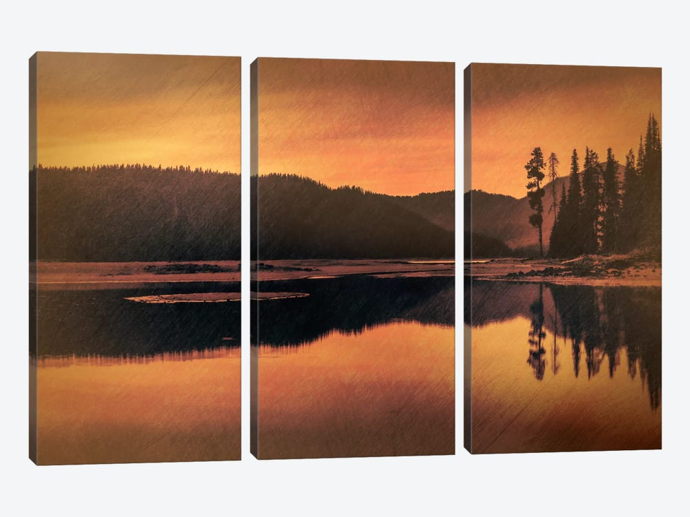 Sparks Lake Serenity by Don Schwartz 3-piece Canvas Wall Art