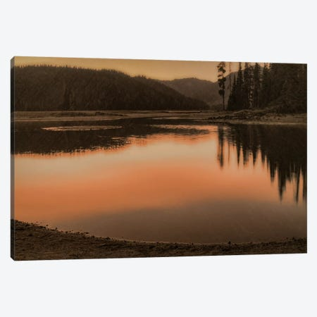 Sparks Lake Sunset Canvas Print #DSC79} by Don Schwartz Canvas Artwork
