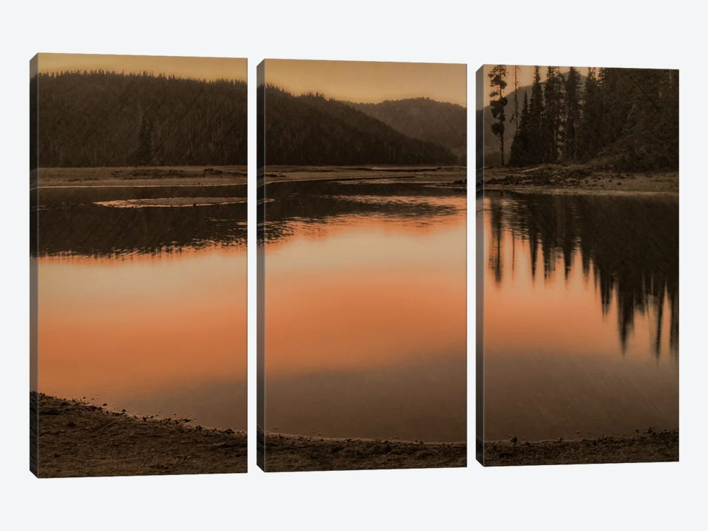 Sparks Lake Sunset by Don Schwartz 3-piece Art Print