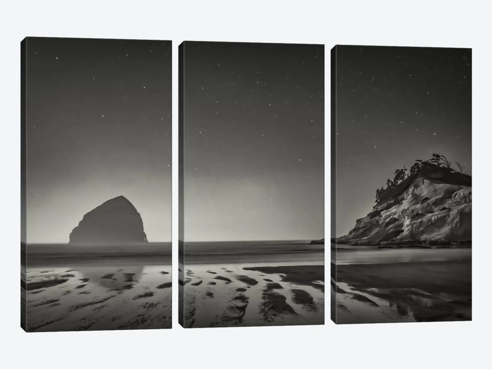 Stars Emerging In B&W by Don Schwartz 3-piece Canvas Artwork
