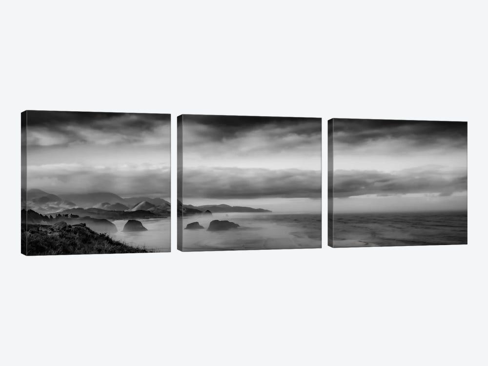 Sun-Kissed Coastal Morning by Don Schwartz 3-piece Canvas Artwork