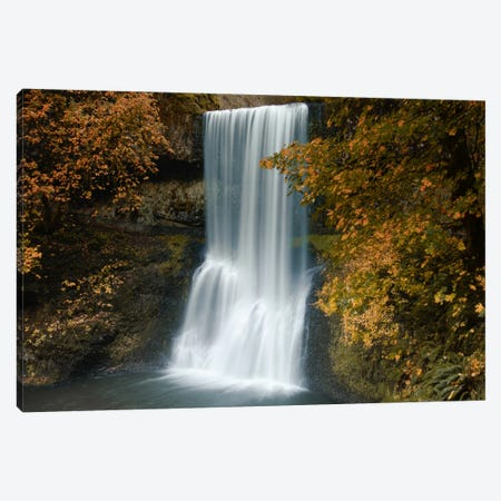 Autumn Cascade Canvas Print #DSC8} by Don Schwartz Canvas Wall Art