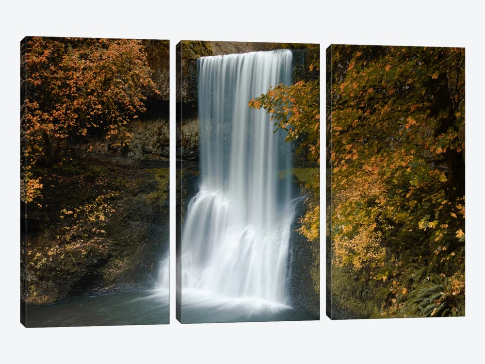 Autumn Cascade by Don Schwartz 3-piece Art Print