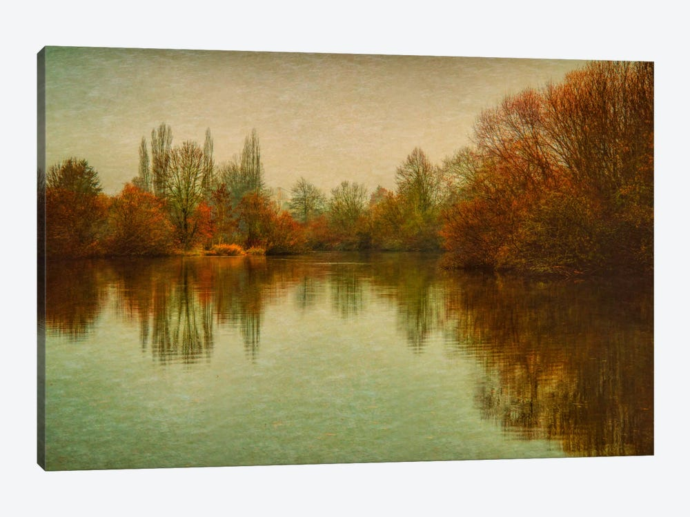 Autumn Morning On The Lake by Don Schwartz 1-piece Canvas Wall Art