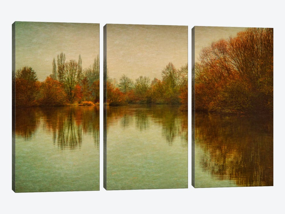 Autumn Morning On The Lake by Don Schwartz 3-piece Canvas Artwork