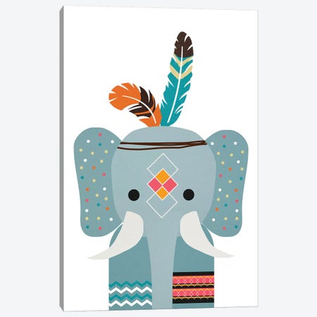 Boho Elephant Canvas Print #DSG12} by Daniela Santiago Canvas Artwork