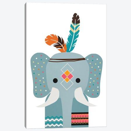 Boho Elephant Canvas Print #DSG12} by Daniela Santiago Canvas Artwork