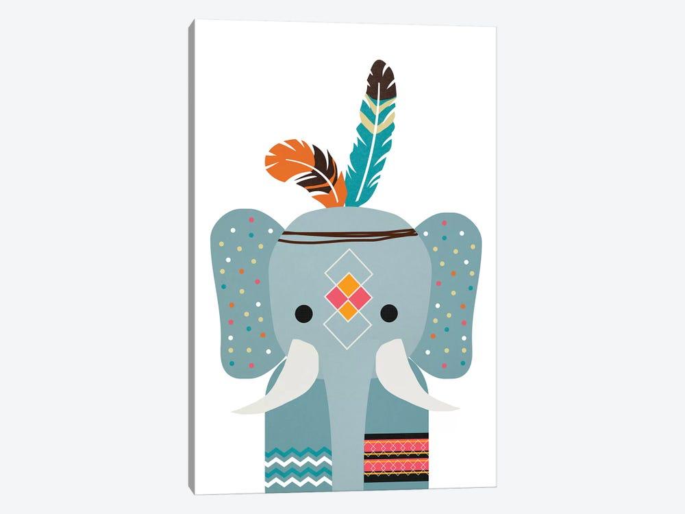 Boho Elephant by Daniela Santiago 1-piece Canvas Art Print