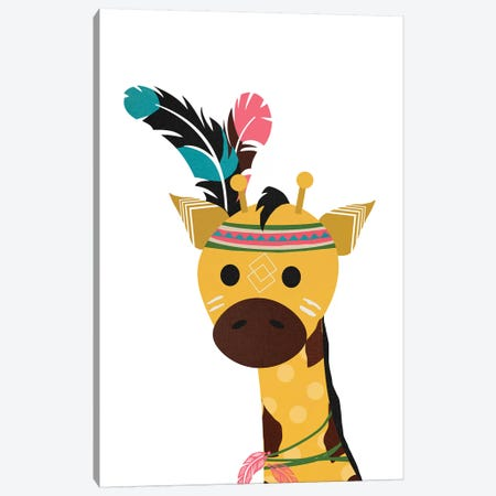 Boho Giraffe Canvas Print #DSG13} by Daniela Santiago Canvas Artwork