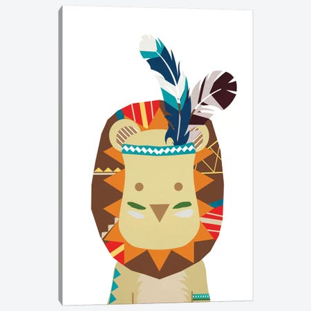 Boho Lion 3-Piece Canvas #DSG14} by Daniela Santiago Art Print