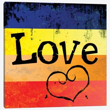 Grunge Love Canvas Print #DSG16} by Daniela Santiago Canvas Art Print