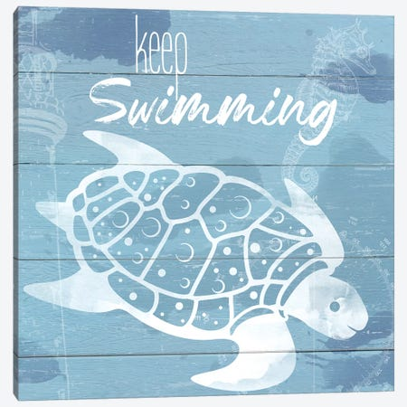 Keep Swimming Canvas Print #DSG17} by Daniela Santiago Canvas Art Print