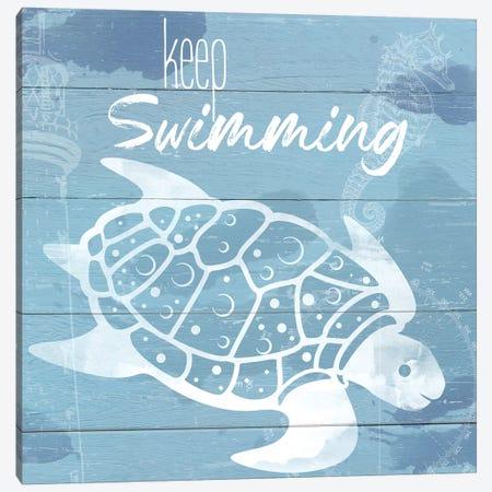 Keep Swimming Canvas Print #DSG17} by Daniela Santiago Canvas Art Print