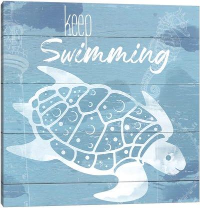 Keep Swimming Canvas Art Print