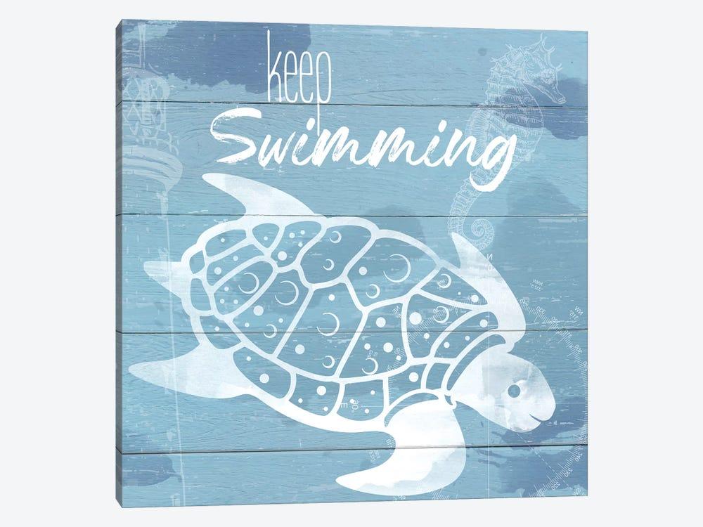 Keep Swimming by Daniela Santiago 1-piece Canvas Wall Art