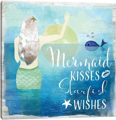 Mermaid Kisses Canvas Art Print
