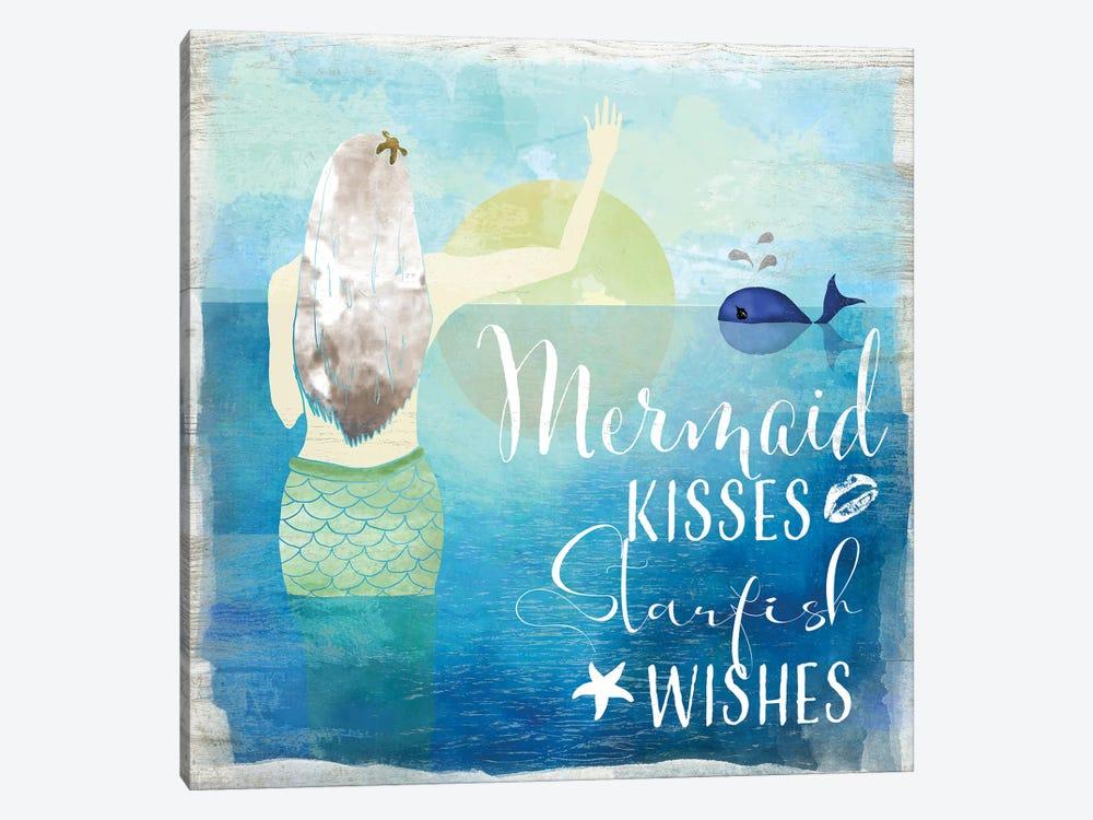 Mermaid Kisses by Daniela Santiago 1-piece Canvas Wall Art