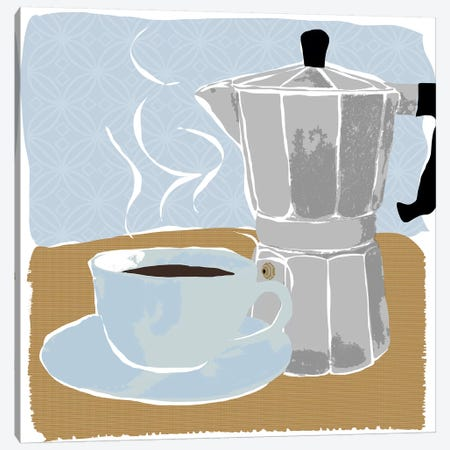Fresh Coffee I Canvas Print #DSG28} by Daniela Santiago Canvas Art Print