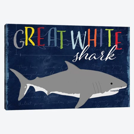 Great White Canvas Print #DSG30} by Daniela Santiago Canvas Wall Art