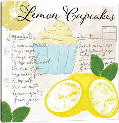 Lemon Cupcakes Canvas Art Print
