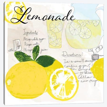 Lemonade Canvas Print #DSG34} by Daniela Santiago Canvas Print