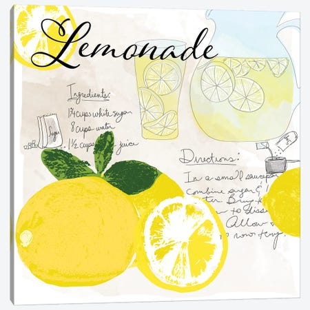 Lemonade Canvas Print #DSG34} by Daniela Santiago Canvas Print
