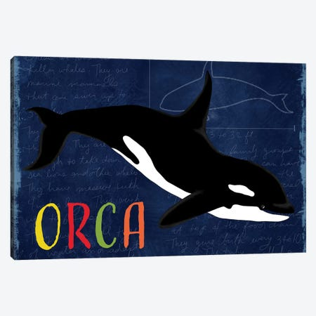Orca 3-Piece Canvas #DSG35} by Daniela Santiago Canvas Print