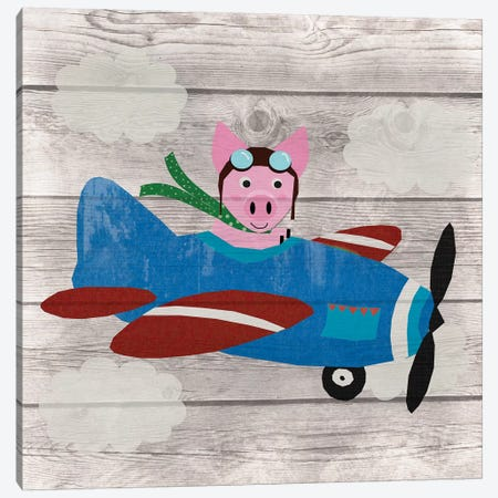 When Pigs Fly Canvas Print #DSG36} by Daniela Santiago Canvas Print