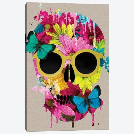 Floral Skull Canvas Print #DSG37} by Daniela Santiago Canvas Print