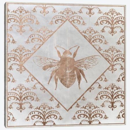 Bee Distressed I Canvas Print #DSG39} by Daniela Santiago Canvas Art