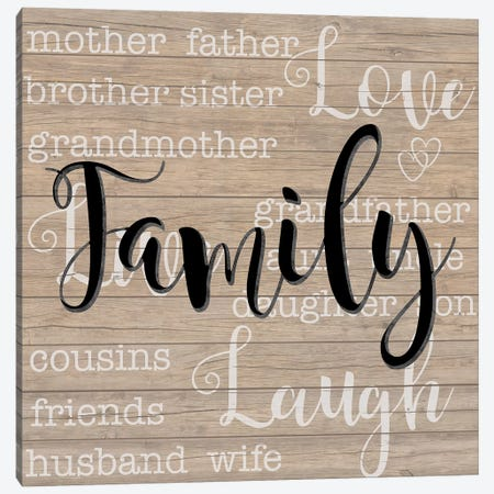 Family Canvas Print #DSG3} by Daniela Santiago Canvas Art